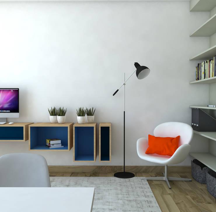 Rénovation d'un appartement: Bureau de style  par MARTIN Intérieur