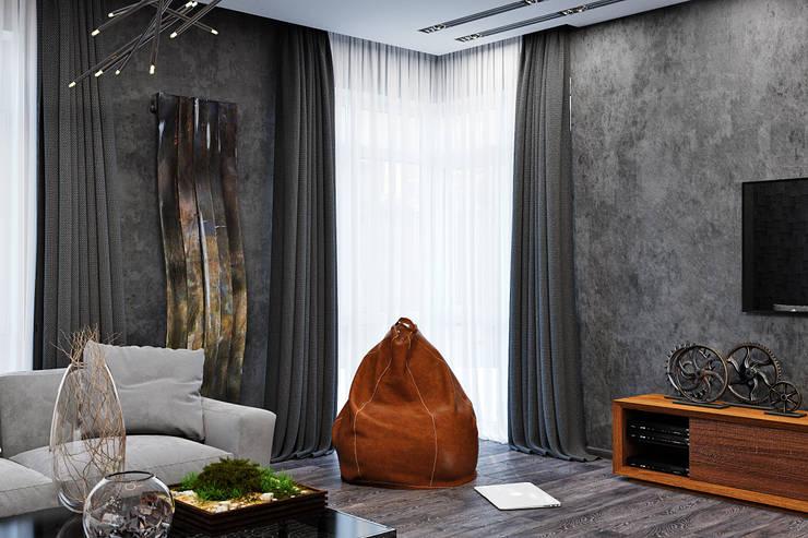 客廳 by Студия дизайна Interior Design IDEAS