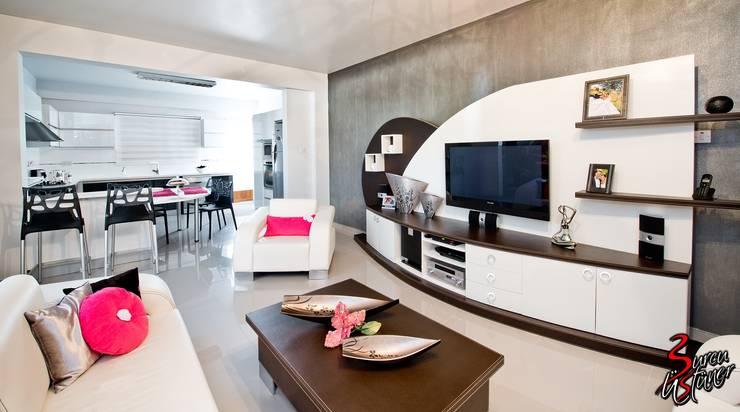 Şölen Üstüner İç mimarlık – Fatoş -Halil Kaan evi / Boğaz:  tarz Oturma Odası