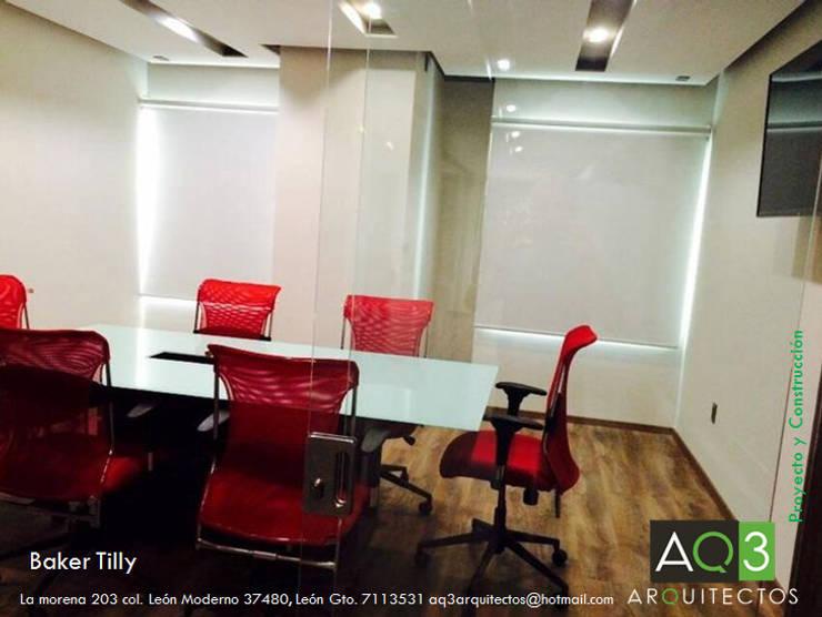 Baker Tilly México:: Edificios de Oficinas de estilo  por AQ3 Arquitectos