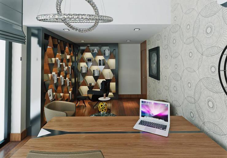 Nuevo Tasarım – Ankara Villa Projesi:  tarz Çalışma Odası
