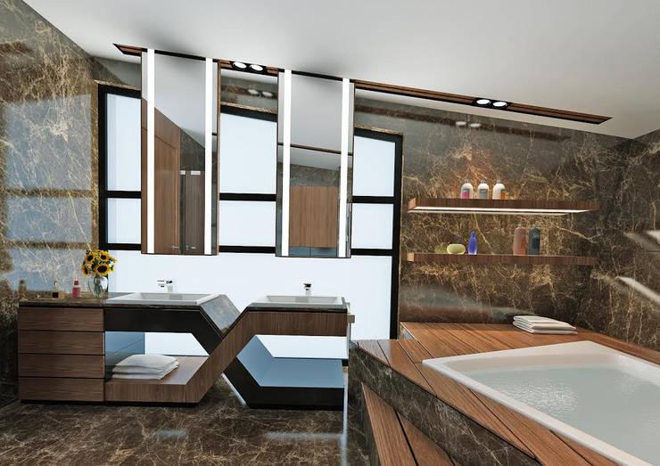 Nuevo Tasarım – Ankara Villa Projesi:  tarz Banyo