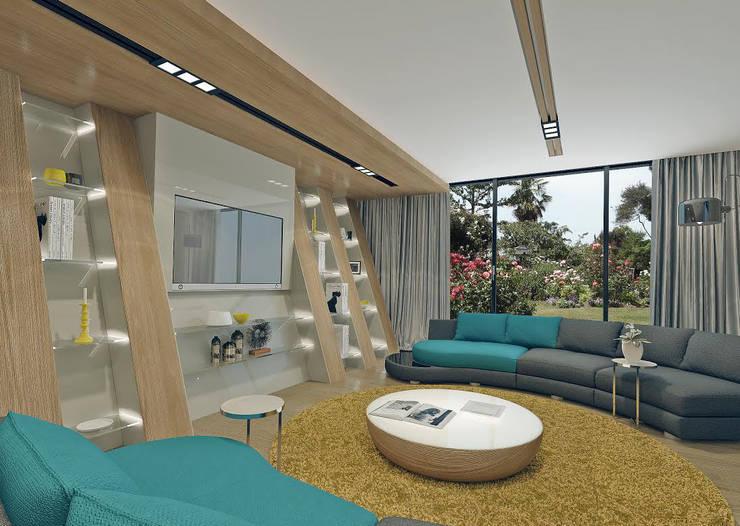 Nuevo Tasarım – Ankara Villa Projesi:  tarz Oturma Odası