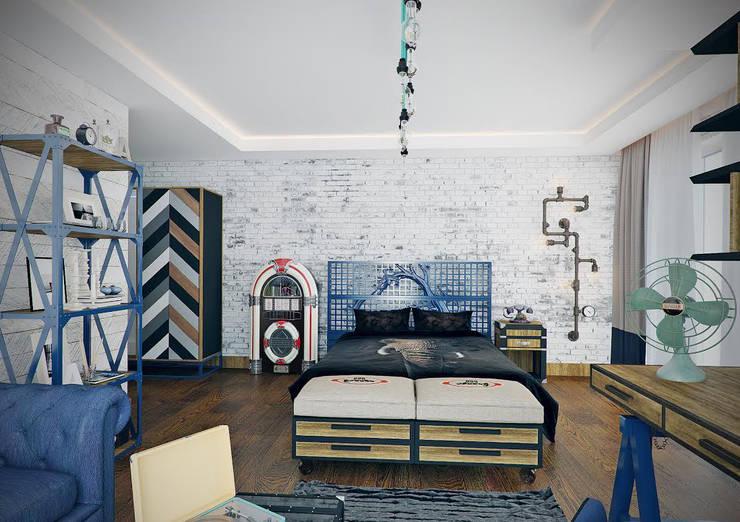 Nuevo Tasarım – Ankara Villa Projesi:  tarz Yatak Odası