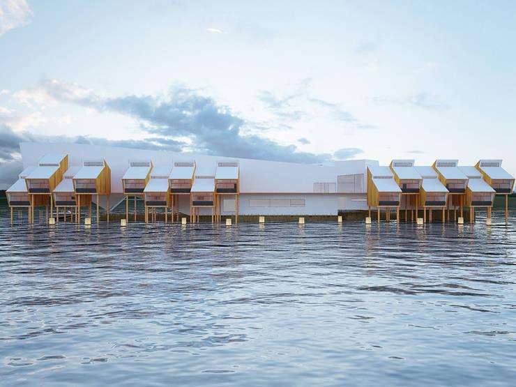 Hotel W M ARTS: Quartos  por Arquitecto Aguiar