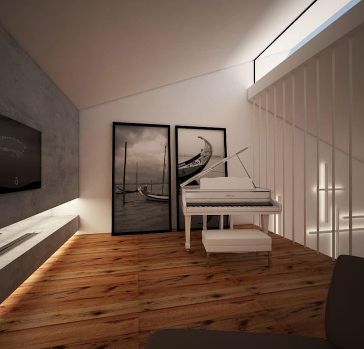 Hotel W M ARTS: Quarto  por Arquitecto Aguiar