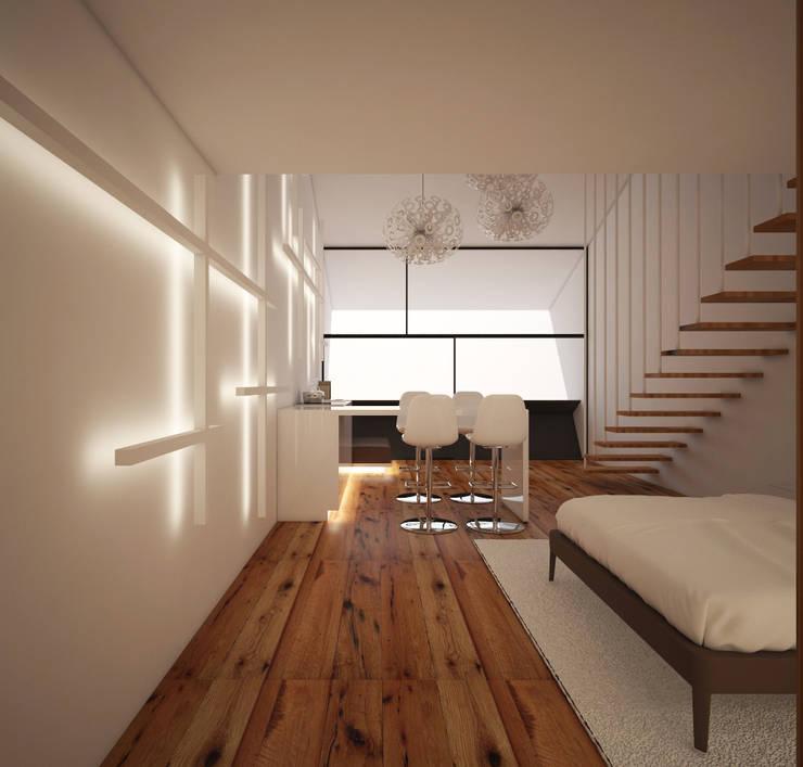 duplex: Cozinha  por Arquitecto Aguiar