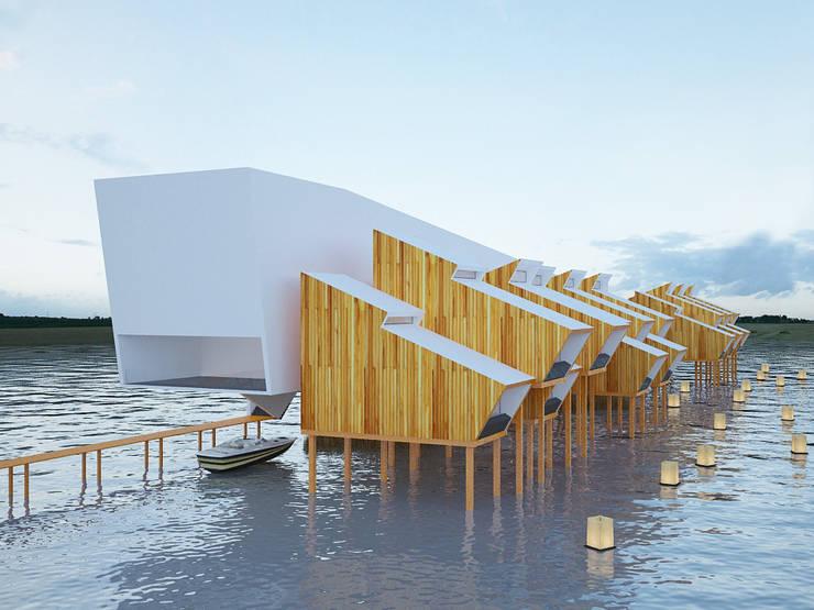 Hotel W M ARTS: Casas  por Arquitecto Aguiar