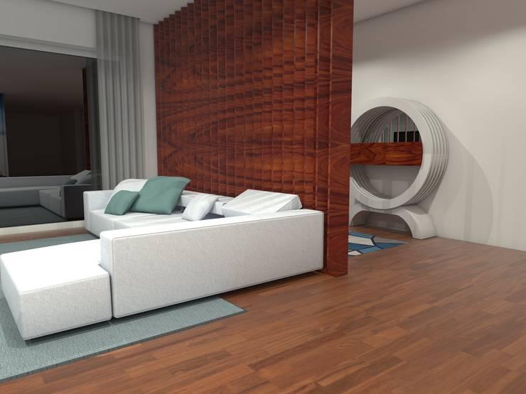 Sala/Entrada Foz do Douro: Sala de estar  por Luís Mauro interiores