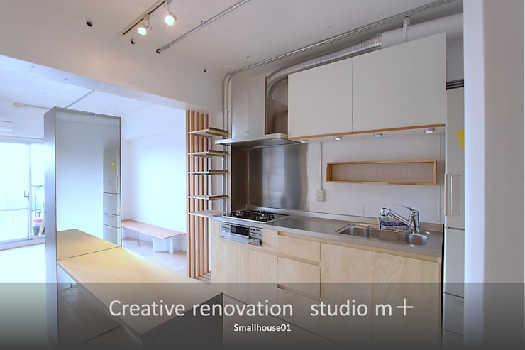 朝が気持ちいキッチン: studio m+ by masato fujiiが手掛けたキッチンです。