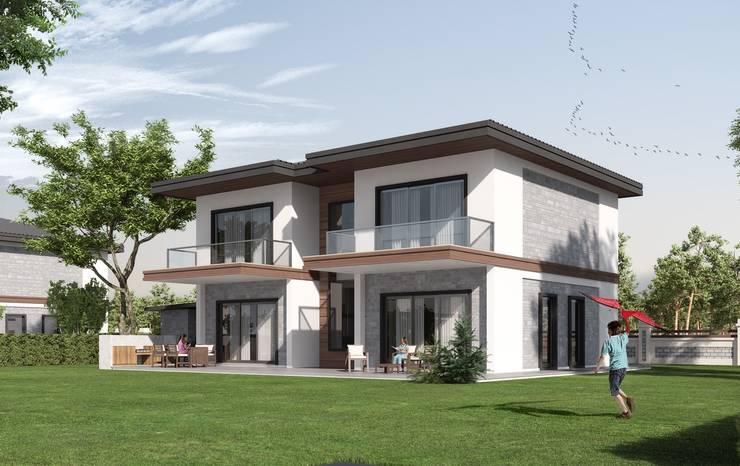 F&F mimarlik – Panorama villaları:  tarz Evler, Modern Beton