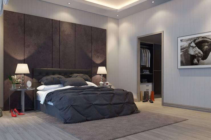 F&F mimarlik – Panorama villaları:  tarz Yatak Odası
