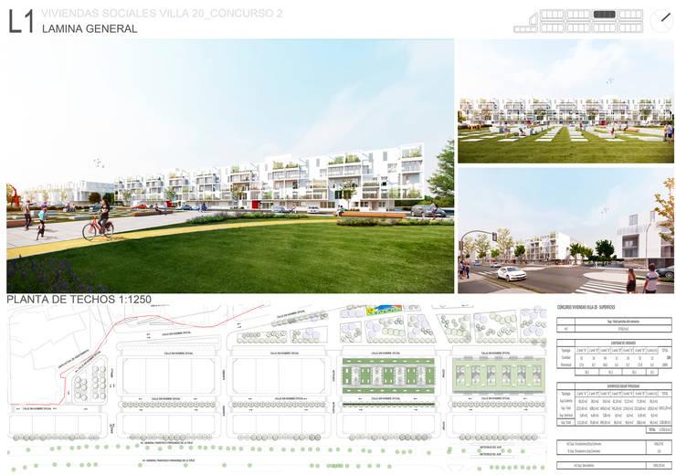 L1: Casas de estilo  por 1.61 Arquitectos