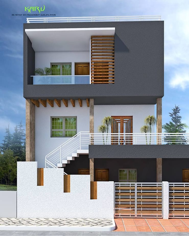 A SMALL BUNGALOW:  Houses by KARU AN ARTIST,Modern