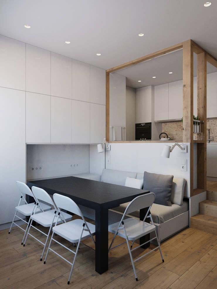 Dining room by Anton Medvedev Interiors