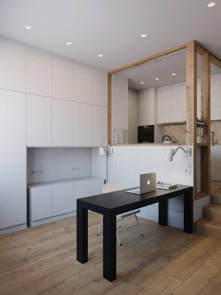 Study/office by Anton Medvedev Interiors