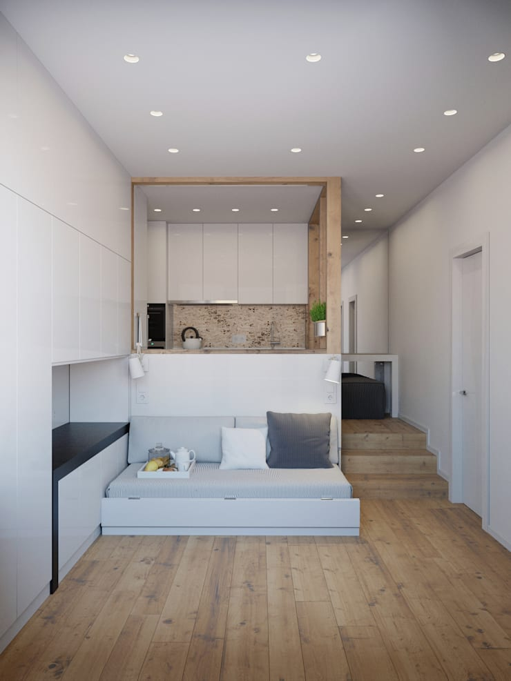 Living room by Anton Medvedev Interiors