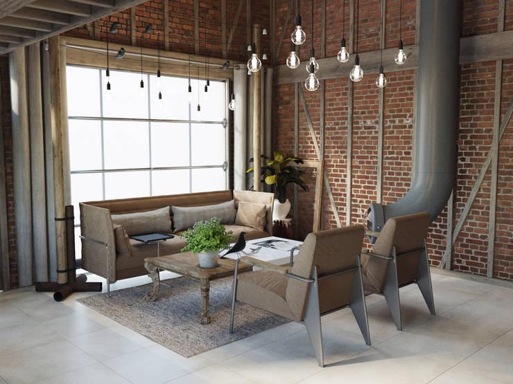 Living room by Anton Medvedev Interiors, Industrial