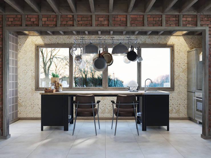Kitchen by Anton Medvedev Interiors, Industrial