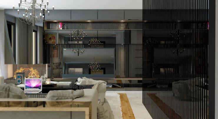 GN İÇ MİMARLIK OFİSİ – Tv : modern tarz , Modern Granit