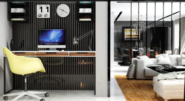 GN İÇ MİMARLIK OFİSİ – Pc vs tv bölümü: modern tarz , Modern Granit