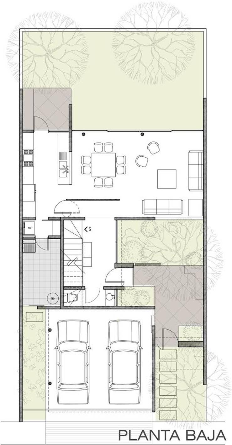 PLANTA BAJA: Casas de estilo  por 75 Arquitectura