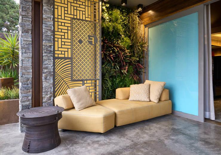 Terrazas de estilo  por Gislene Lopes Arquitetura e Design de Interiores