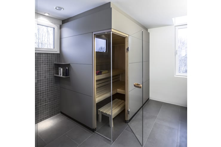 Sauna:  Badezimmer von gerken.architekten+ingenieure