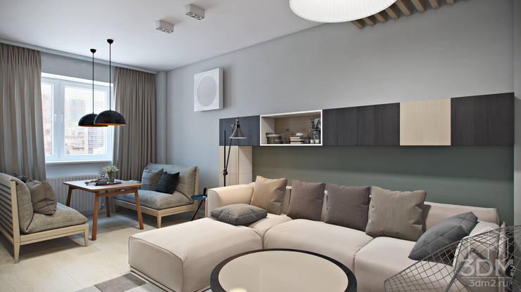 Ruang Keluarga oleh студия визуализации и дизайна интерьера '3dm2', Minimalis