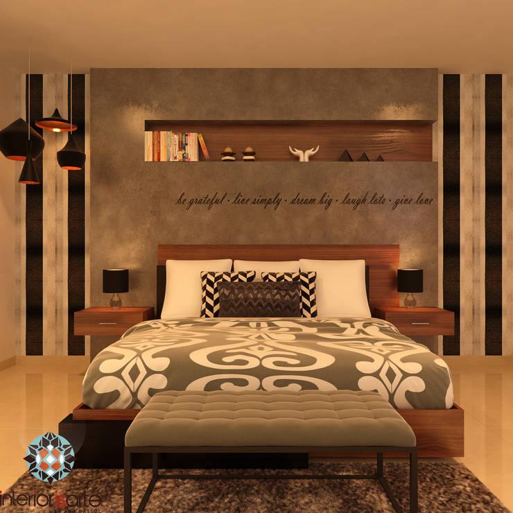 recamara principal Dormitorios modernos de Interiorisarte Moderno