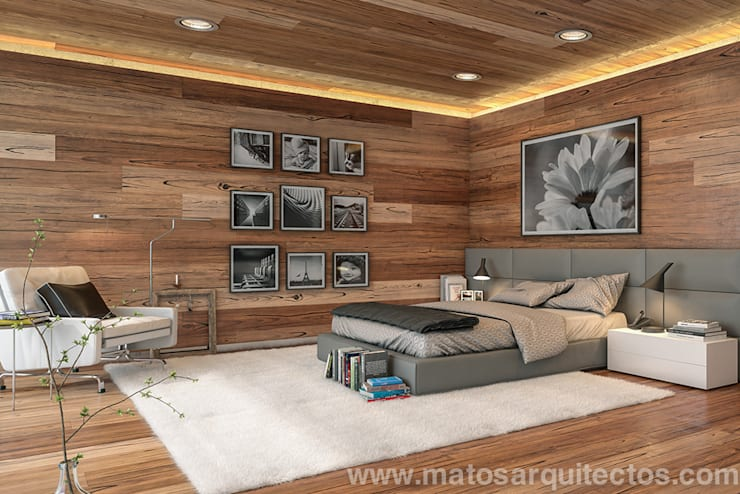 غرفة نوم تنفيذ Matos Architects