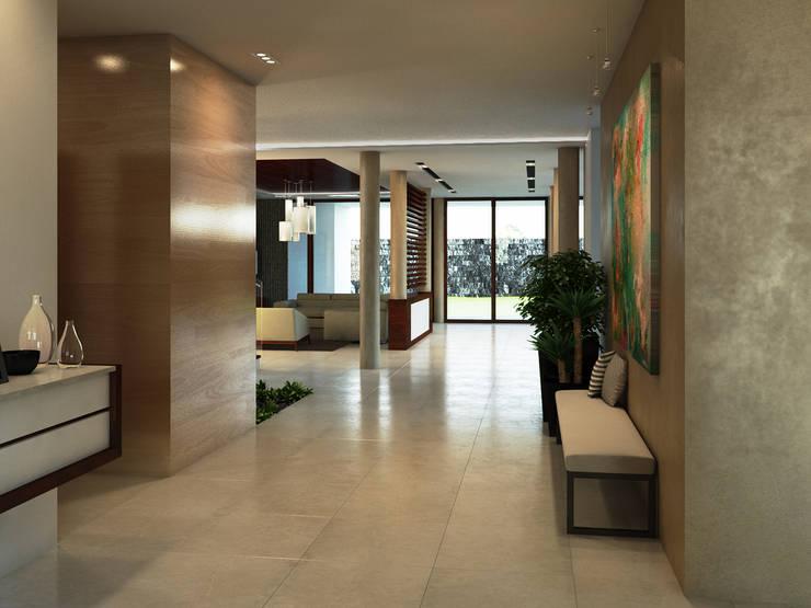 Pasillos y vestíbulos de estilo  por Interiorisarte