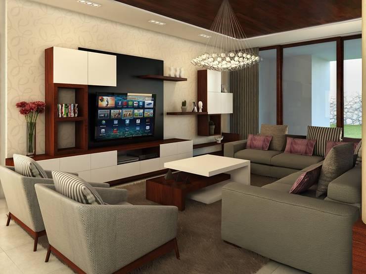Residencia AC: Salas de estilo  por Interiorisarte