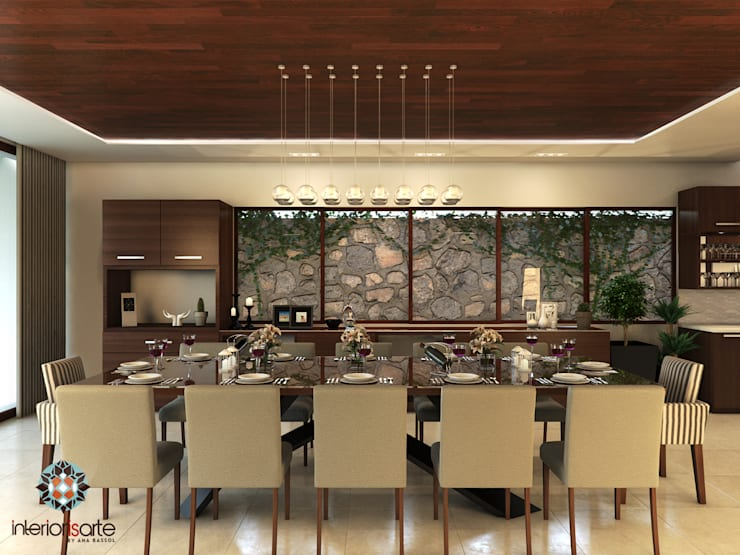 Residencia AC: Comedores de estilo  por Interiorisarte