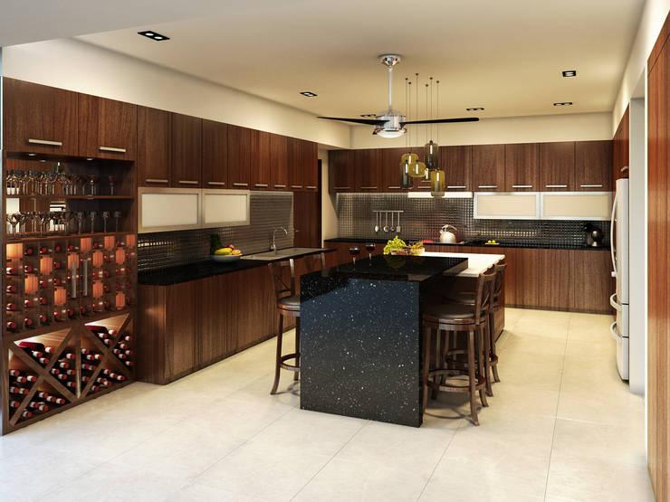 Residencia AC: Cocinas de estilo moderno por Interiorisarte