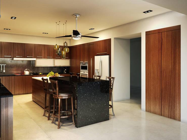 Residencia AC: Cocinas de estilo  por Interiorisarte