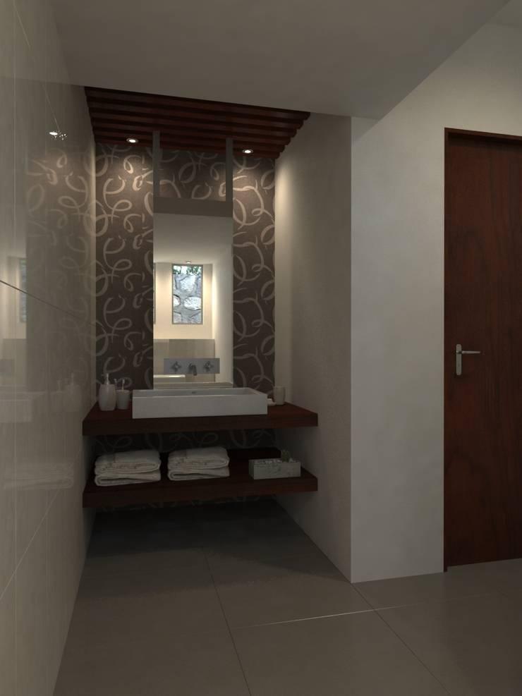 Residencia AC: Baños de estilo  por Interiorisarte