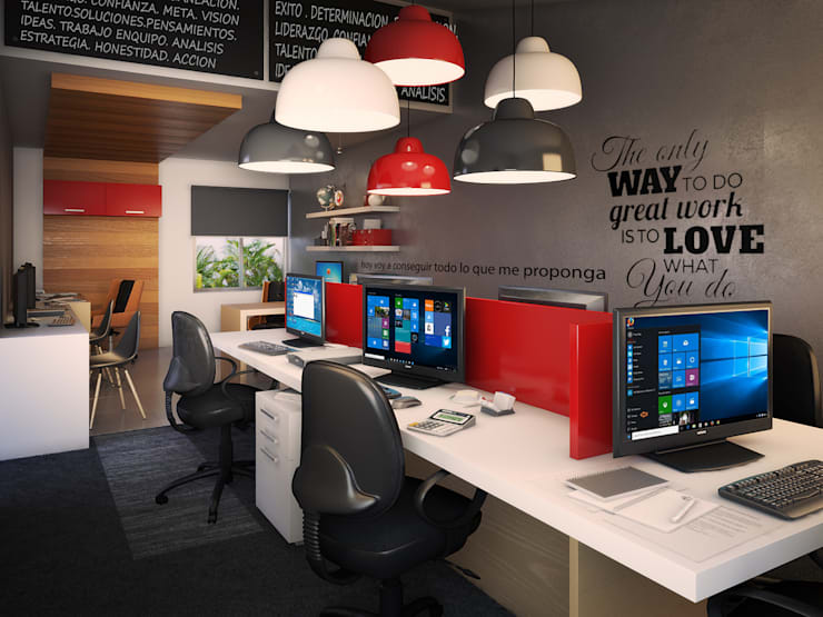Oficinas AV: Oficinas y tiendas de estilo  por Interiorisarte