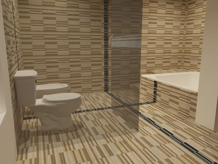 Bathroom by Arq. Jose F. Correa Correa, Minimalist