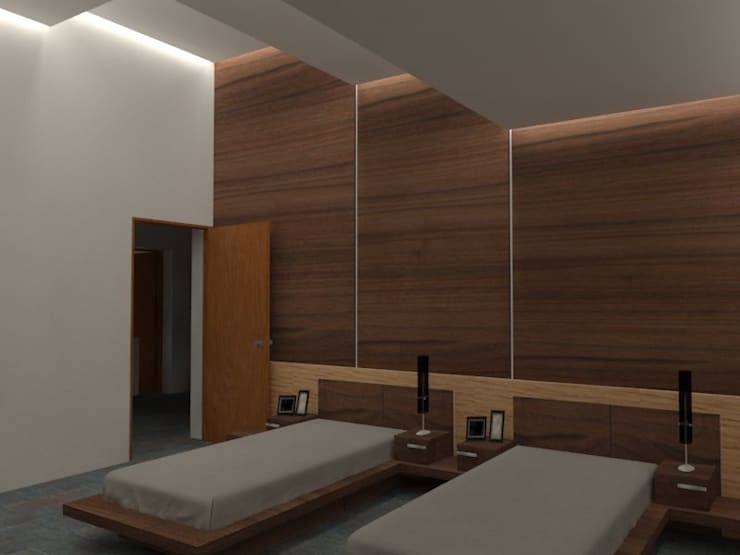 Bedroom by Arq. Jose F. Correa Correa, Minimalist