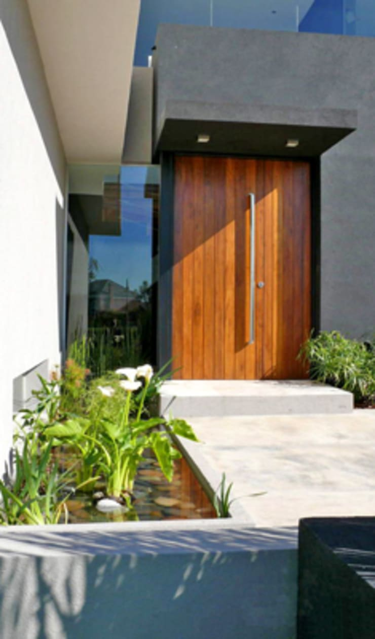 CASA BR – Estudio Fernandez+Mego: Pasillos y recibidores de estilo  por Estudio Fernández+Mego