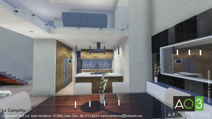 La Campiña : Comedores de estilo  por AQ3 Arquitectos
