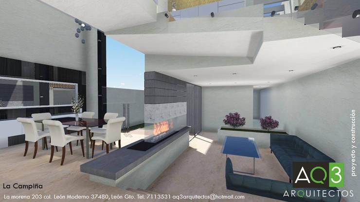 La Campiña : Salas de estilo  por AQ3 Arquitectos