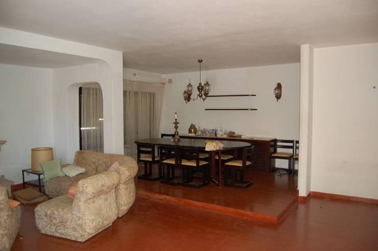Sala de estar e sala de refeições - Antes:   por Archiultimate, architecture & interior design
