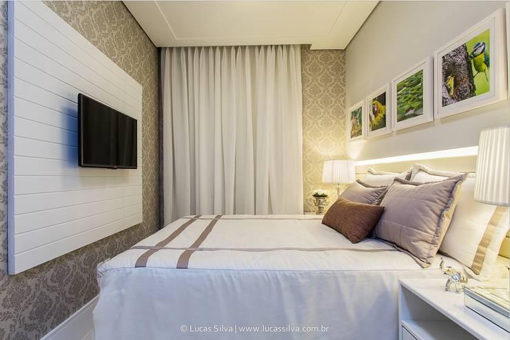 غرفة نوم تنفيذ Fonseca & Burity Arquitetura