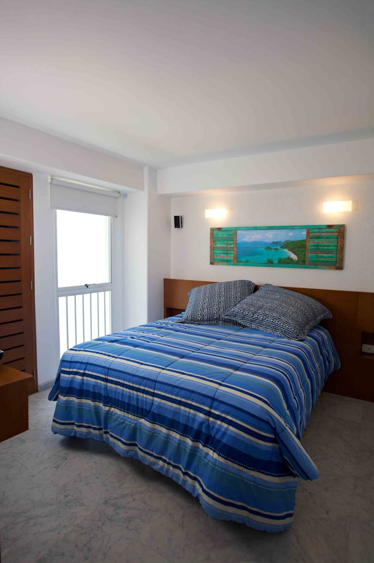 Apartamento 93-A: Cuartos de estilo  por Objetos DAC