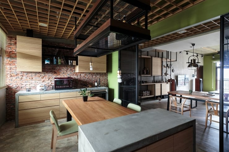 [HOME] Yu Chu Interior Design: KD Panels의  다이닝 룸,