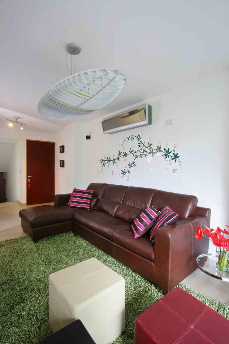 Apartamento 13A: Salas / recibidores de estilo  por Objetos DAC
