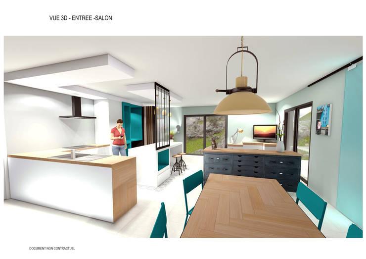 aménagement intérieur d\'une pièce de vie style industrielle von ...