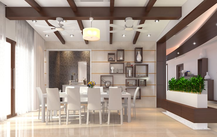 Mr. Ramesh Residence at Neyveli:  Dining room by Dwellion